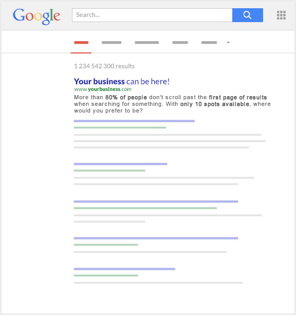 The importance of being on the first page of Google when working with a San Antonio seo company.